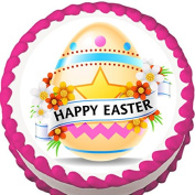 Happy Easter Edible Cake Topper
