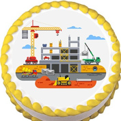 Construction Edible Cake Topper