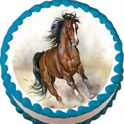 Running Free Horse Edible Cake Topper