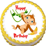 Hanging Monkey Birthday Edible Cake Topper