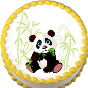 Panda and Bamboo Birthday Edible Cake Topper