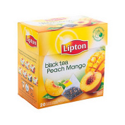[Imported] Lipton Black Tea Peach and Mango 20 teabags x 1,8 gr