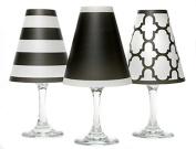 di Potter WS136 Nantucket Paper White Wine Glass Shade, Black