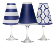di Potter WS132 Nantucket Paper White Wine Glass Shade, Navy