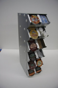 Two Bad Cats G36H2W0C Storage Display Rack for Keurig Single serve cup, Holds 48 Single serve cup