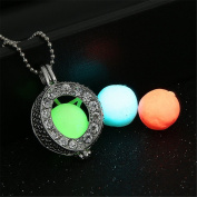 ToGoo Openable Heart Locket with 3 Colours Glow in the Dark Balls Pendant Necklace style2