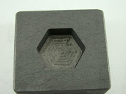 60ml Hexagon Gold Bar High Density Graphite Mould 30ml Silver