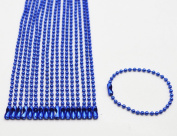 Amanaote Royalblue 2.4 mm Diameter Ball Chain 13 mm Length Metal Bead Chain for Pendant Pack of 20