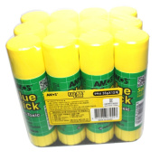 X12 35g (35ml) Amos Glue Stick Non Toxic Paper Stationery School Office - Pack of 12 Pcs