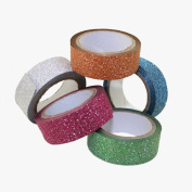 Adorox Set of 5 Assorted Colours 12mm Glitter Craft Tape Scrapbooking Washi Adhesive Gift Wrap Wrapping
