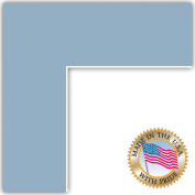 8x32 French Blue Custom Mat for Picture Frame with 4x28 opening size