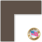 9x25 Chestnut Custom Mat for Picture Frame with 5x21 opening size