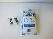 100 Pack Wide Picture Rail Hooks Silver Finish