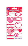 Valentines Day Inspired Self Adhesive Gift Wrap Tags - 20ct
