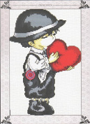 Home Decoration DIY Printed Needlework Sets Counted Cross Stitch Kits Embroidery Kits, Boy with Heart