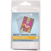 Crescent Artist Trading Cards 7cm x 9.5cm 25/Pkg-Protective Sleeves by Crescent Cardboard Co