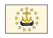 Rhode Island State Flag - Letterpress