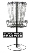 MVP Black Hole Practise 24-Chain Portable Disc Golf Basket Target