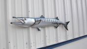 120cm Barracuda Half Mount Fish Replica IN STOCK