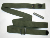 "M1 Carbine Sling, OD Green Cotton Web ""D"" tips, with Oiler"