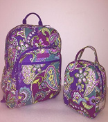 Vera Bradley Campus Backpack and Lunch Bunch in Heather