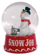 """Crooked Snowman Snowglobe """"Snow Job"""""""