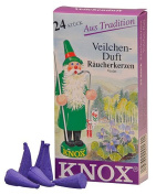 Knox Violet Scent German Incense Cones Made in Germany for Christmas Smokers