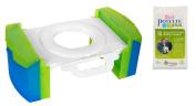 Cool Gear Folding Portable Travel Potty Seat for Car with Kalencom Potette Plus Liners Bundle
