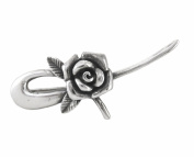 Sterling Silver Rose Bloom Brooch Pin