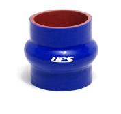 HPS Silicone Hoses HTSHC-350-BLUE Silicone High Temperature 4-ply Reinforced Straight Hump Coupler Hose, 40 PSI Maximum Pressure, 7.6cm Length, 7.6cm - 1.3cm ID, Blue