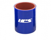 HPS Silicone Hoses HTSC-300-L4-BLUE Silicone High Temperature 4-ply Reinforced Straight Coupler Hose, 70 PSI Maximum Pressure, 10cm Length, 7.6cm ID, Blue