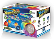 Mindscope Twister Tracks Trax RollBot Neon Glow in the Dark 241 Piece Flexible Railway Set With Light Up LED Motorised Sphere/Ball & 3.7m of Track