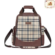 My Share Mall Classic Plaid Multifunction Large Capacity Hand Bag Shoulder Bag Backpack Baby Nappy Baby Care Product