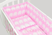 6pcs BABY SWINGING/ ROCKING CRIB /CRADLE BEDDING SET/ALL ROUND BUMPER 100% COTTON!