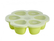 BEABA 6-Compartment Multiportions Silicone Food Storage