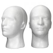 LuckyFine Male Styrofoam Foam Mannequin Stand Model Display Head