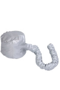 Portable Soft Hairdressing Bonnet Hood Hat Hair Drying Cap Blow Dryer Attachment for Salon Barber Home Travel Silver