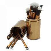 Nestling® 12pcs Make Up Brush Set - Makeup Brushes - Professional Make Up Brushes - Make Up Brushes Set + Make Up Brush Holder + Make Up Brush Pot