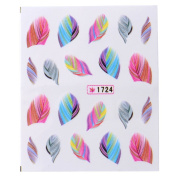 NEW Arrival Water Transfer Decals Nail Art Feather Design Nail Decals Sticker Manicure Decor Decoration Tools