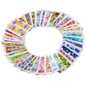 Bluelans® Pack of 50 3D Colourful Flower Water Nail Transfers Nail Art Stickers / Decals / Tattoos