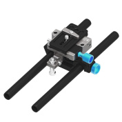 Fotga DP500 Mark III Quick Release 15mm Rail Rods Rig Support for All DSLR Video Cameras as Blackmagic BMCC BMPCC Canon 5D MarkII MarkIII 5DIV Sony A7R A7RII A7 A7II A7S A7SII Panasoic GH3 GH4 Nikon D500 BMPC