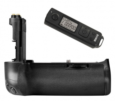 Battery Grip Meike 5DS R with Wireless Timer Remote Shutter Release for Canon EOS 5DS R, 5DS, 5D Mark III