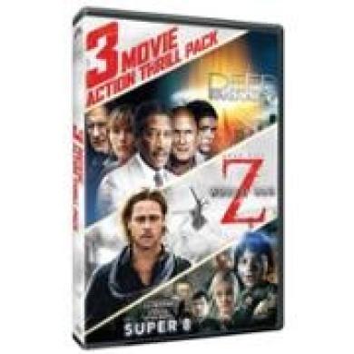 3 Movie Action Thrill Pack: Deep Impact/World War Z/Super 8