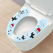 EQLEF® 2pair Washable Toilet Seat Mat Universal paste-type toilet seat pad Toilet cushion Cartoon Rabbit & dog