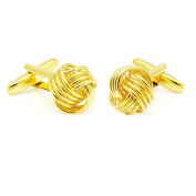 Honey Bear Simple Knot Interlocking Rings Twisted Cufflinks
