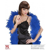 Cosy Feather boa in dark blue approx. 1.80 m