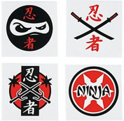 Pack of 12 - Ninja Temporary Tattoos - Great for TMNT Turtles Party Loot Bags