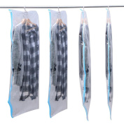 tinkertonk 4Pcs 70X145Cm Vacuum Hanging Storage Space Saver Wardrobe Bag Clothes Suit Dress