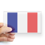 CafePress France Flag Sticker Rectangle - 3x5 Clear