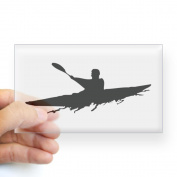 CafePress Kayak Sticker Rectangle - 3x5 Clear